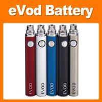 Evod Elektronik Sigaralar Piller Düğmesi Basınçlı Pil 650mAh / 900mAh / 1600 MAH Ön Isıtmalı VV Değişken Gerilim Vape Kalem Kutusu Mod Kiti
