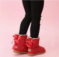 2021 أطفال بيلي 2 الانحناء الأحذية جلد طبيعي الصغار أحذية الثلوج الصلبة بوتاس دي نيف الشتاء الفتيات الأحذية طفل الفتيات الأحذية