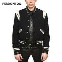 남성용 재킷 2021 겨울 야구 자켓 남자 스웨트 셔츠 대학 운동복 양털 캐주얼 슬림 피트 망 솔리드 Veste Homme1