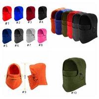10 colori caldi Cappelli invernali all'aperto sci Passamontagna in bicicletta Maschera Sciarpa Sport Equitazione Sci Cap CYZ2847