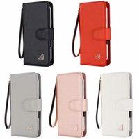 2021 Coque amovible en cuir de luxe pour iPhone SE 12 mini 11 pro xr xs max 6 6 6S 7 8 plus 5 5s Flip portefeuille de téléphone portable Couverture