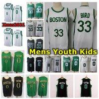 2021 Mens Youth Kids Jayson Tatum Kemba Walker Jersey Stitched City BOSTONian Edition 33 8 Walker 0 Tatum Bird Basketball Jersey With Logo