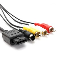 Компьютерные кабели разъемы для-N64 AV кабель 1.8M 6FT TV S-Video Super для- для GameCube64 Snes