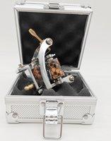 1pc M022 Nuevo color plata hecha a mano wrap bobo hierro pro tatuaje ametralladora con una caja de caja de aleación de aluminio