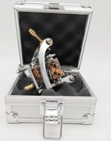 1Pc M022 New Silver Color Handmade Wrap Coil Iron Pro Tattoo Machine Gun With A Aluminium Alloy Case Box
