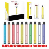 Authrentic Flavbar V2 disposable pod Vape device 1000puff 3ml vape pen Vaporizers pen kit VS PUFF XXL PUFF BAR vape pen