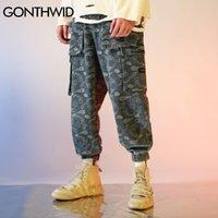 Gonthwid Bandana Paisley Pattern Print Joggers Harem Cargo Brage Wellwear Hip Hop Harajuku повседневная мешковатые брюки мужские штаны 201109