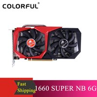 Красочный GeForce GTX 1660 SUPER NB 6G Графическая карта Видеокарта 1785 МГц GDDR6 6GB B192Bit Тепловыделение Gaming GPU для настольных компьютеров