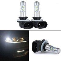 Feux de brouillard 2pcs H27 881 862 889 894 10-2323-SMD Ampoule de remplacement de la lumière de conduite de conduite de la lumière 6000K Lampe de voiture1