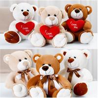 Heart Bear Bow Tie Bear Peluche Bambola Carino Cartoon Teddy Bear Regalo San Valentino S Giorno Regalo Peluche Giocattoli 25cm