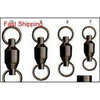 Gran juego de pesca rodamiento de bolas giratorio anillo sólido giratorio 50pcs / bolsa hqiqw ydpol