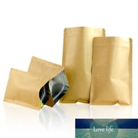 100pcs  15size Kraft Paper Doypack Zip Lock Pouch with Aluminum Foil Food Tea Snack Coffee Storage Resealable Bag