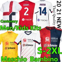 20 21 Cagliari Calcio Soccer Jerseys Centeny Kity Joao Pedro Limited Edition Nainggolan 2021 Maglie DA 기념일 축구 셔츠
