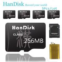 carta di 5pcs HanDisk reflex Mini Sd micro SD da 256 MB TF di capienza reale di garanzia di 3 anni per il telefono cellulare e tablet