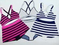 Venta caliente Bikini Mujer Moda Traje de baño Verano Carta Impresión Traje de baño Vendaje Sexy trajes de baño Sexy Almohadilla de dos piezas 6 estilos