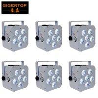 6 Satz-Wireless-DMX-Up-Licht LED-DJ Par 6 * 18w RGBAW UV Par Can Batterie-LED Uplightings Smart-DJ Par für Hochzeiten Partei-Verein-Event