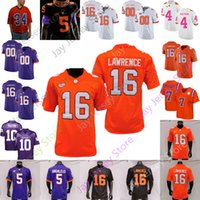 Clemson Football Jersey NCAA College Trevor Lawrence Chase Brice Travis Etienne Jr. Tee Higgins Justyn Ross Rodgers Simmons Davis Foster
