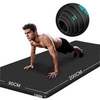 200 * 90cm 20mm Ekstra Kalın NBR Yoga Minderi Yüksek Kaliteli Egzersiz Minderleri için Gym Ev Spor Tatsız Spor Pedleri Egzersiz Jimnastik