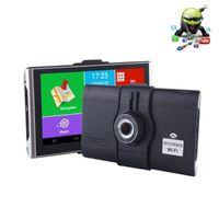 7 pollici HD Auto GPS Navigazione Android Smart DVR Dash Cam Camera Camera Camion Camion GPS Sat Nav Wireless WiFi Bluetooth FM Radio1
