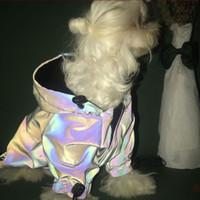 아메리칸 픽스 애완 동물 의류 두꺼운 패딩 코트 탄성 디자인 개와 고양이에 대 한 반사 화려한 재킷
