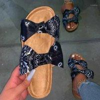 الصيف الصنادل النساء 2020 حذاء امرأة الفلين الصنادل المسطحة الأحذية السيدات أزياء شاطئ ساندلز المرأة sandalias موهير 1