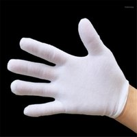 12 Pairs pack Home Dust Cleaning Gloves White Cotton Gloves Full Finger Hands Protector Men Women Unisex1