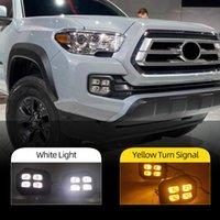 2 pcs carro drl para TOYOTA TACOMA 2016 2017 2018 2019 2020 LED Daytime Running Lights Daylight Sign Light Car Styling FOG Light