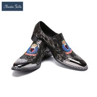 Обувь для одежды Кристиа Белла Роскошные Мужчины Досуг Кожаный Модный Дизайнер Вышитый Персонализированная Лодка для Мужской Оксфордс