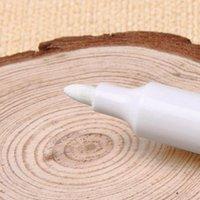 1 pcs diy metal impermeável pintura permanente marcador penas sharpie branco 6mm estudante escola material de arte marcador artesanato caneta oleosa