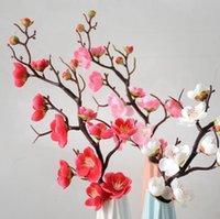 Pluune Cherry Fleurs Soie Fleurs artificielles en plastique Sakura Tree Branche Home Table Decor Décor De mariage Couronne