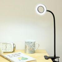 Hartisan Dimmable LED Ligado Luz Quarto Bedside Secretagem Leitura Luz Flexível Clipe Mangueira USB LED Table Maquiagem Lâmpada Notebook