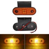 Eclairages de secours 10pcs 24V LED Marqueur latéral pour camion RV Remorque Remorque Lampe de jeu de bateau de bateau Avertissement Turn Signal Lights1