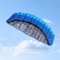 2020 NEUE BEST PREIS 20 STÜCKE Bunte 2,5 m 2 Linie Stunt Parafoil Power Sport Kite Kostenloser Versand