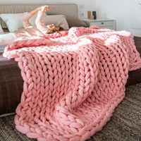 Blanket Large Chunky Yarn Warm Thick Soft DIY 4 Colors Hand ...