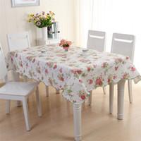 PVC Plastic Tovaglot Lattice Flower Pattern Rettangolo circolare Impermeabile Tavolo da tè Impermeabile Tele tè Multicolor Merci per la casa Nuovo 11DX J2