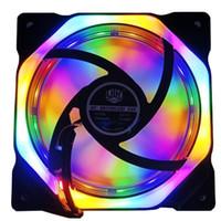 Ventilateurs de refroidissement des fans Spider 2Side Rainbow 120mm silencieux 12cm cercle CPU LED VEND PC pour étui d'ordinateur 12V Fans de refroidisseur multicolore1