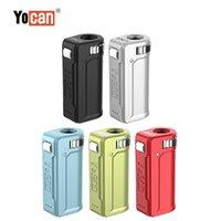 Original Yocan Uni S Mod 배터리 조정 가능한 직경 예열 400mAh VV 조정 가능한 전압 상자 개조 5 색 100 % 정통 DHL 무료