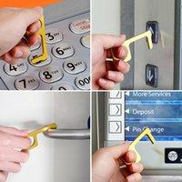 16 Styles sicher Isolation Tür-Öffner Keychain No-Touch-Tasten-Tür-Öffner-Anhänger Tragbarer Halten Sie die Hände reinigen Wiederverwendbare Press Aufzug Werkzeug
