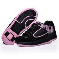 Crianças Meninas Sneakers com roda Shoes Crianças Shoes Skate Rapazes Meninas automática Jazzy Flashing Heelys Esporte Zapatillas