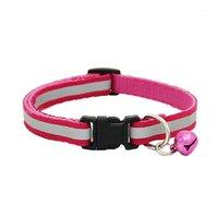 CSS Ayarlanabilir Yansıtıcı PET Yaka Güvenlik Serbest Bırakma Toka Kedi Köpek (Pembe) için Bell ile 1