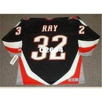 Mens # 32 Rob Ray Buffalo Sabers 1999 CCM Retro Hóquei Jersey ou Personalizado Qualquer nome ou Número Retro Jersey