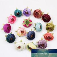 Ev Düğün Dekorasyon Çiçek Başkanı İçin Yeni Tasarım Çok Renkli Küçük Tea Rose Diy Gül Çiçek İpek Çiçek Yapay Çiçekler Başkanları