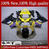 Lichaam voor HONDA CBR900 CBR893 CBR 900 893 RR CBR893RR GEEL BLACK 95HC.93 CBR 893RR 900RR CBR900RR 94 95 96 97 1994 1995 1996 1997 FACKING
