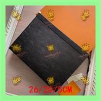 clutch Toiletry Pouch 26 bolsa clutch bag de couro na clássica pochette de  de luxo retrô