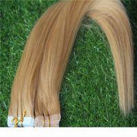 Extensions de cheveux droites Remy Extensions de bandes 10-33 pouces PU Brésilien Pu Skin Hair 2G PC 40G Pack 100g