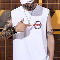 Men Hip Hop Tank Top Letter Print Slim fit Vest singlets Bodybuilding tank shirt Casual Summer Tank Top For Male