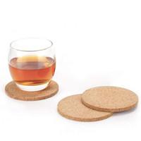 Doğal kahve fincanı Mat Yuvarlak Ahşap Isıya Dayanıklı Mantar Coaster Mat Çay İçecek Pad Tablo Dekor Toptan LX3906