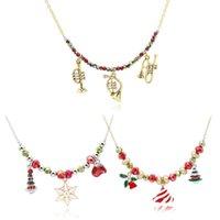 Мода Рождество серии Снеговик носки Белл ожерелье ручной работы из бисера ожерелья горячее