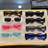 Neue quadratische klassische mode ow40006 brille polycarbonat platte kotchrahmen 40006 sonnenbrille männer und frauen weiße sonnenbrille mit original box