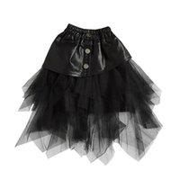2020 جديد الدانتيل بنات التنانير الأزياء بو الجلود الاطفال التنانير الأميرة توتو المتدرج التنانير الفتيات ملابس الاطفال الملابس بالجملة